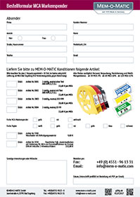 Bestellformular MCA Markenspender