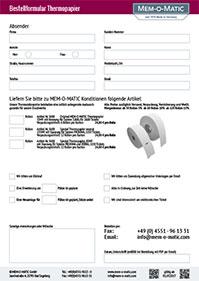Bestellformular Thermopapier