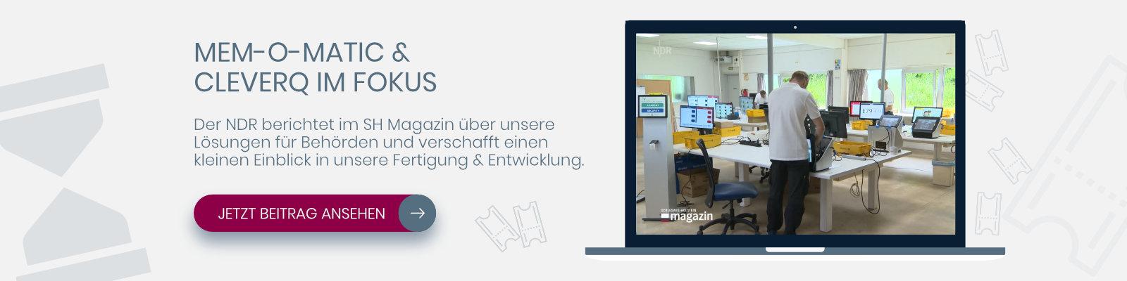 NDR Berichtet über Memomatic und cleverQ